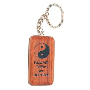 Laser Engraved Rosewood Keychain - Style #5
