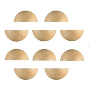 Half-Round Dome Natural Wood Block - 3/4 x 1-1/2. Pack of 10