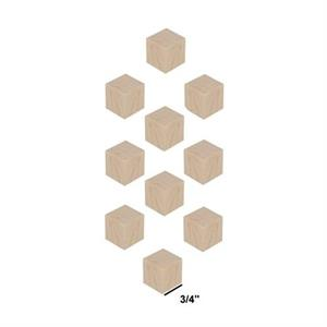Wood Block Cubes - 3/4 x 3/4 x 3/4. Pack of 10