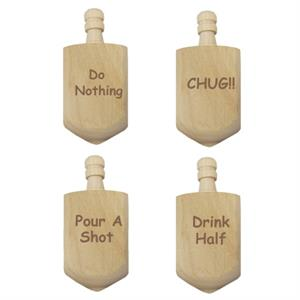 Dreidel Drinking Game with Personalized Top - Traditional Edition