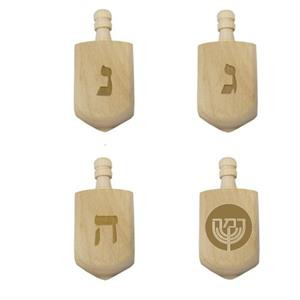 Laser Engraved Dreidel with One Custom Face
