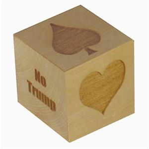 "Extra Large 2-1/2"" Maple Wood Suit Marker Cube"