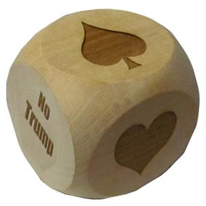 "Humongous 2-1/2"" Faceted Hardwood Suit Marker Cube"