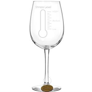 Laser Engraved Stress Thermometer Wine Glass