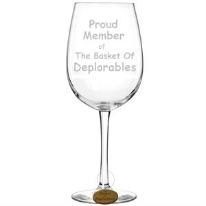 Basket of Deplorables Laser Engraved Novelty Wine Glass
