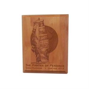 Laser Engraved 9 in. x 12 in. Plaque, Portrait Orientation