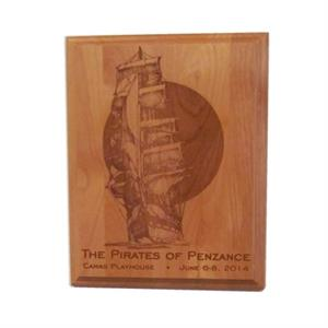 Laser Engraved 10-1/2 in. x 13 in. Plaque, Portrait Orientation