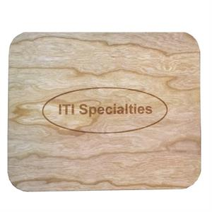 Personalized Mouse Pad with Natural Wood Surface
