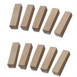 Rectangular Wood Block - 3/4 x 3/4 x 3. Pack of 10