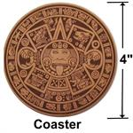 Aztec Calendar Leather Coaster Gift Details